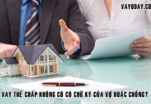 Vay the chap khong can vo hoac chong ky co duoc khong