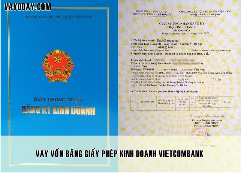 Vay von bang giay phep kinh doanh vietcombank